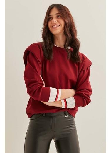 Vitrin Omuz Detaylı Sweatshirt Bordo